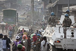 M23 rebellion - UN forces and refugees in Goma during the rebellion