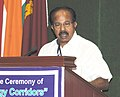 "M. Veerappa Moily addressing at the releasing of the report on ""Green Energy Corridors"" for transmission infrastructure requirement and other related services for integration of large scale envisaged renewable generation.jpg"