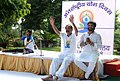M. Venkaiah Naidu performing Yoga with the Minister of State for Urban Development, Housing and Urban Poverty Alleviation, Shri Babul Supriyo, on the occasion of the 2nd International Day of Yoga – 2016, at Nirman Bhavan (1).jpg