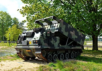 M270 Multiple Launch Rocket System - M270 MLRS formerly of the Royal Netherlands Army at the Nationaal Militair Museum 2015