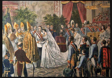 Marriage of Franz Joseph and Elisabeth MAraige de Sissi et Francois-Joseph.png