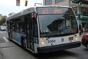Q17 (New York City bus) - A Jamaica-bound Q17 bus at Main Street near Roosevelt Avenue.