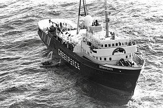 MV Greenpeace - Image: MV Greenpeace off Florida in December 1989