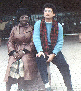 Mabel Segun - Mabel Segun (left) in Strasbourg, 1983