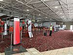 Mackay Airport departure hall check in counters.jpg