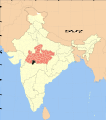 Madhya Pradesh district location map Khandwa.svg