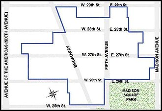 Madison Square North Historic District - Boundaries of the district