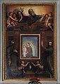 Madonna delle grazie, 1390 ca, con cornice con dio, santi e angeli attr. al poppi, 1610 ca. 00.jpg