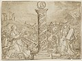 """Maerten de Vos, Design for Title Page """"Trophaeum Vitae Solitariae"""".jpg"""