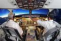 Mahan Air Avro RJ100 cockpit.jpg