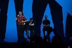 Mahmood at the 2019 Eurovision Song Contest Grand Final Dress Rehearsal (4).jpg