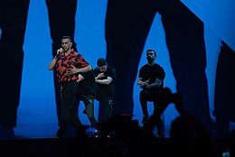 Mahmood at the 2019 Eurovision Song Contest Grand Final Dress Rehearsal (4).jpg