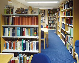 Maidenhead Synagogue - Part of the library at Maidenhead Synagogue