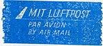Mail label of Deutsche Post der DDR - Mit Luftpost.jpeg