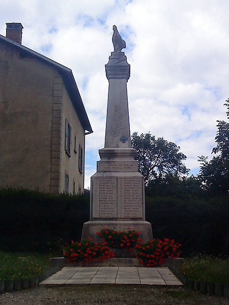 Monuments aux morts de la commune de Maillat (Ain, France)