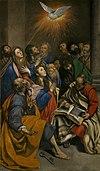 Maino Pentecostés. Lienzo. 285 x 163 cm. Museo del Prado.jpg