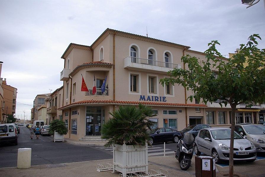 Valras-Plage in Frankreich. Der Ort befindet sich an der Mittelmeerküste.