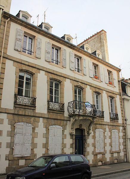 Maison classé monument historique du 18 rue Jules Legrand à Lorient. Vue générale.