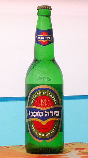 Tempo Beer Industries - A bottle of Maccabee beer.