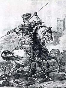 Berittener Mamluk in einer Darstellung von 1810