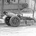 Man lying face-down on a cart in Burkina Faso, 2009 (monochrome).jpg