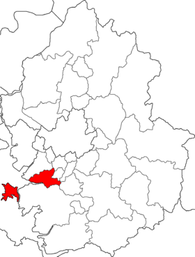 Location of Ansan