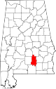 Map of Alabama highlighting Crenshaw County.svg