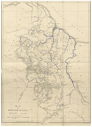 Charles Barrington Brown - Map of British Guiana from Canoe and Camp Life in British Guiana