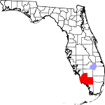 A state map highlighting Collier County in the southern part of the state. It is large in size.
