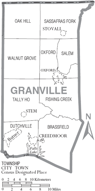 Granville County, North Carolina - Map of Granville County, North Carolina With Municipal and Township Labels