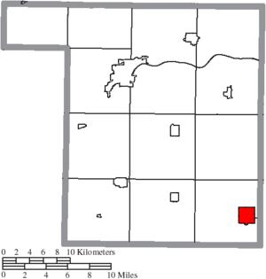 Deshler, Ohio - Image: Map of Henry County Ohio Highlighting Deshler Village