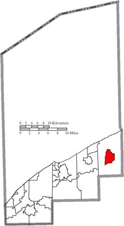 Ubicación de Madison en el condado de Lake