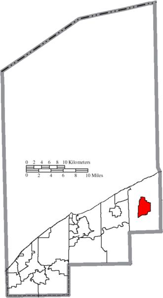 Madison, Ohio - Image: Map of Lake County Ohio Highlighting Madison Village