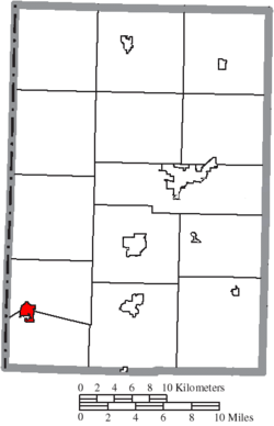 Location of Fort Recovery in Mercer County