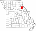 Map of Missouri highlighting Ralls County.png