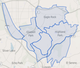 Northeast Los Angeles district in Los Angeles, California, United States of America