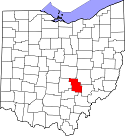 Map of Ohio highlighting Perry County.svg