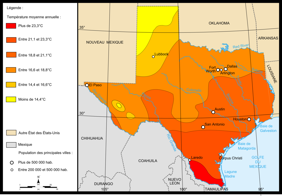 Texas Temperature Map File:Map of Texas temperatures.png   Wikimedia Commons