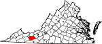 State map highlighting Wythe County