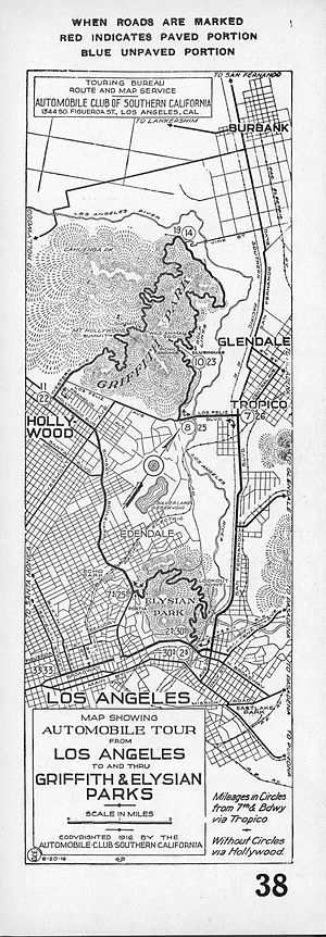 Edendale, Los Angeles - 1916 map showing location of Edendale (center)