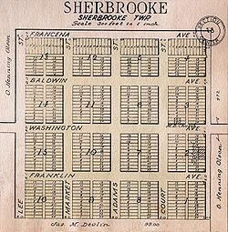 Plat of Sherbrooke in 1928