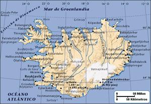 Descripción: Mapa de Islandia. Estatus de copy...
