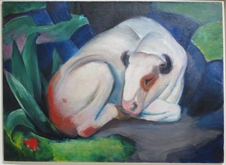 Benjamin Fondane - The Bull, 1911 painting by Franz Marc