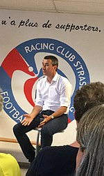 Marc Keller au local des supporters du Racing Club de Strasbourg en 2017.jpg