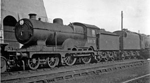 GER Classes S46, D56 and H88 - D16/2 'Super-Claud' nO.8813 at March Locomotive Depot 14 July 1946.