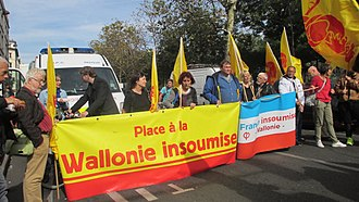 La France Insoumise - Wallonie insoumise, created in 2016, here in September 2017.