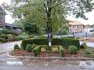"""Margraten - One of the many typical """"road crosses"""" in this Roman Catholic region"""
