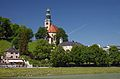 Maria Himmelfahrt Church, view from the Müllner Steg bridge. Salzburg, Austria.jpg