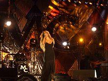 Mariah Carey durante un concerto nel 2005