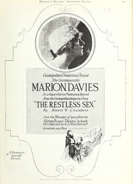 Marion Davies in The Restless Sex by Robert W. Chambers Photoplay 1918.png